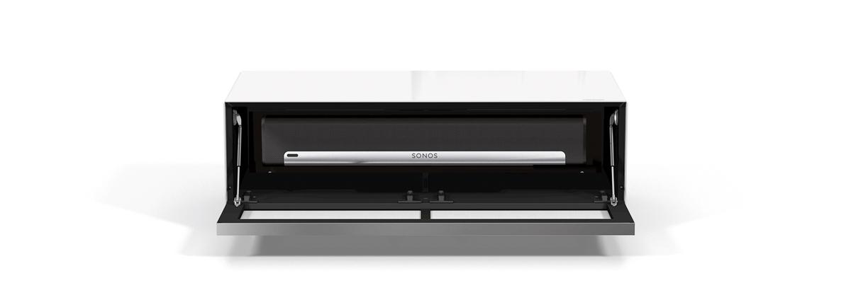 König Ascona mobile tv spectral bianco con sonos playbar