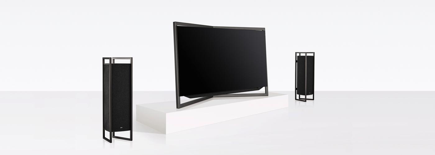 koenigascona loewe bild9 tablestand with speakers graphite